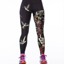 2017 Trousers For Women Fitness Sexy Leggings For Jeggings Punks Gothic Active Pants Female Apparel Sporting Goods Leggins(China)
