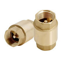 1pc New 1/2'' NPT Brass Thread In-Line Spring Check Valve 200WOG(China)