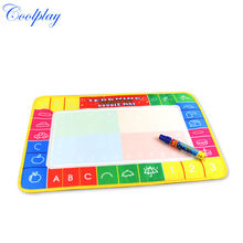 Coolplay 46x30cm 4 color Water Drawing Mat Toys Aquadoodle Mat with 1 Pen painting Drawing board rug for baby play mat cp1323