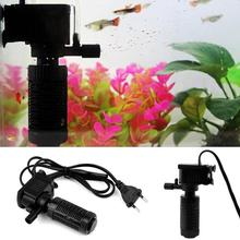 Mini 3 in 1 Aquarium Internal Filter Fish Tank Pump Spray Plastic Submersible Filters for Fishing Tank Cleaning(China)