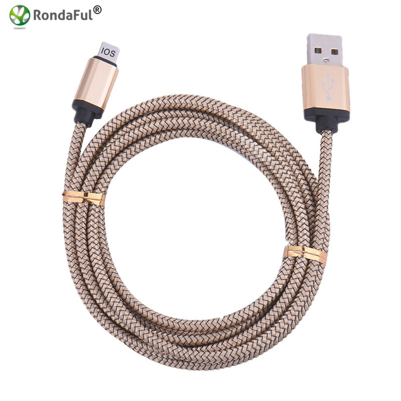 1M Nylon Braided USB Charger Cable for Apple iPhone 5 5s 5c SE 6s 6 plus 7 7plus ipad ipod Data Sync Cord 8pin(China (Mainland))