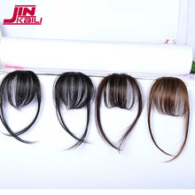 JINKAILI Synthetic Hair One Piece Straight Clip in Hair Extensions Flat Air Fringe Front Bangs with Hair Temples(China)