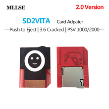 For PSVita SD2VITA PSVSD Micro SD Adapter for PS Vita 1000 2000 Henkaku 3.60 Mirco SD TF Card to Game Card Adapter