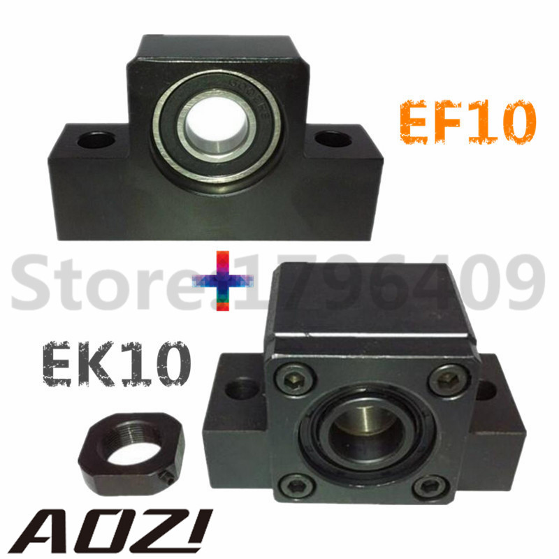 1 Set EK/EF10 Ballscrew End Supports (1 of EK10+1 of EF10)/SFU1204 Ballscrew End Support EK10 EF10 Free Shipping<br>