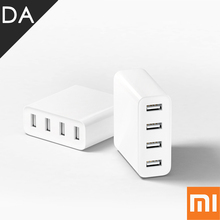 Original Xiaomi Mi USB Charger 4 USB Ports 5V 2.4A 35W Universal Quick Charger Charging Hub 4 Slots Auto Detect Technology
