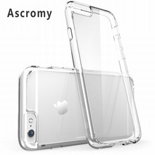 Ascromy For iPhone 6s Case Clear Hard Hybrid Protective Bumper Cover For Apple iPhone 6 S iPhone6 Coque Mobile Phone Accessories(China)