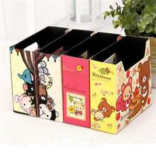 Cartoon Printing DIY storage paper box desktop sundries finishing box letter holders Desk Stationary Holder School Office Supply