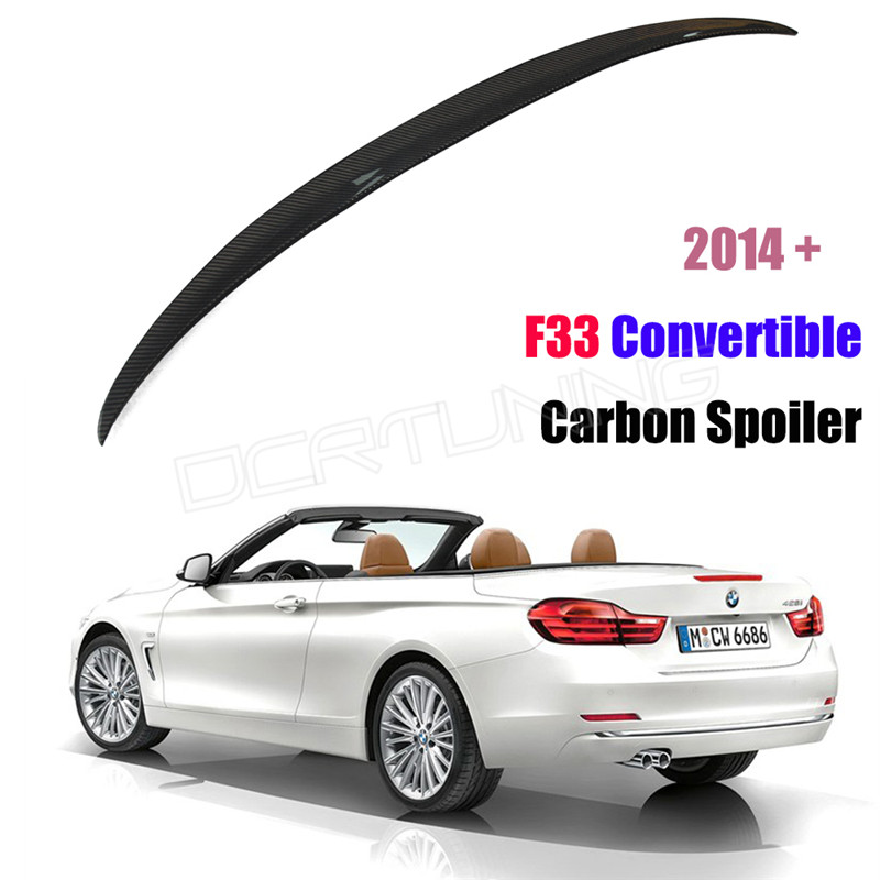 For BMW F33 Convertible 4 Series 420i 428i 435i Performance Style Carbon Fiber Rear Trunk Spoiler 2014 2015 2016 - UP<br><br>Aliexpress