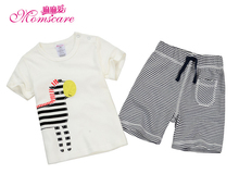 Mom's care Summer Baby Set 100% Cotton Short Sleeves T shirt & Shorts Childrens Suits Toddler Infant Kids Boys Sets Ourfit Wear