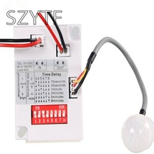 free shipping 1set new plastic intelligent light body sensor IR module motion sensing switch(China)