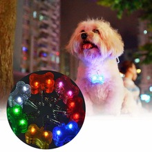 1 pc Pet Dog Tag Pendant Safety Supplies LED Luminous Pendant Ornaments Glowing Pet Supplies Pets Tags S2