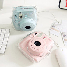 Clear Transparent Plastic Camera Case Cover Housing for Fuji Fujifilm Instax Mini 8 Protect Bag New Design