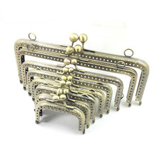 10pcs 6.5 7.5 8.5 10.5 12.5 15 18 20cm Metal Buckle for Bag DIY handmade Metal Purse Frame with Kiss Lock wedding clutch frame(China)