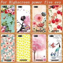 Luxury 3D diy Design Case FOR Highscreen Power Five EVO Soft TPU Cover Super Flower Style For Highscreen POWER FIVE Evo tpu Case(China)