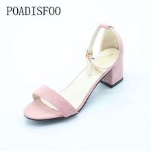 POADISFOO Summer Women Sandals Open Toe Flip Flops Women's Sandles Thick Heel Women Shoes Korean Style Gladiator Shoes .HS-977