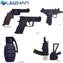 LEIZHAN USB flash drive Boy Gift  AK47 Gun Shape USB 2.0 pen drive 8gb 16gb 32gb 64G Flash Stick memory card Pendrive U Disk