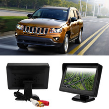 2016 New Hot 1 Sets 5 Inch TFT LCD Color HD Shade Car Rearview Monitor for DVD Camera GPS Free Shipping&Wholesale