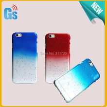 For iPhone 6 plus 6s Plus Hard Case Colorful Transparent Raindrop Waterdrop PC Cover Free Shipping