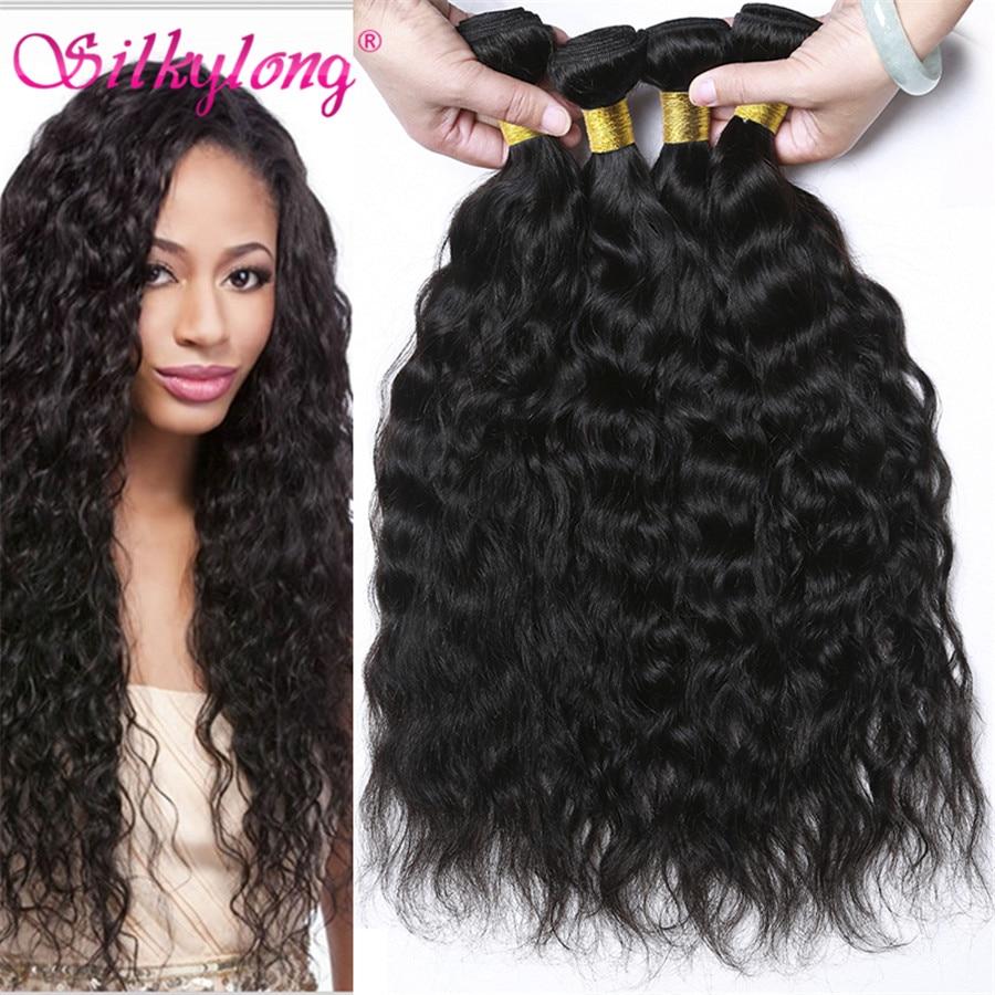 8A Natural Wave Peruvian Virgin Hair 4 Bundles Peruvian Curly Human Hair Extensions Silkylong Wet And Wavy Peruvian Hair Bundles<br><br>Aliexpress