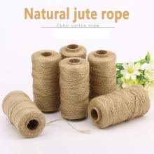 Twine Rope-String Decoration Cords Craft Linen Burlap Gift-Box Wedding-Tags Hemp Handmade
