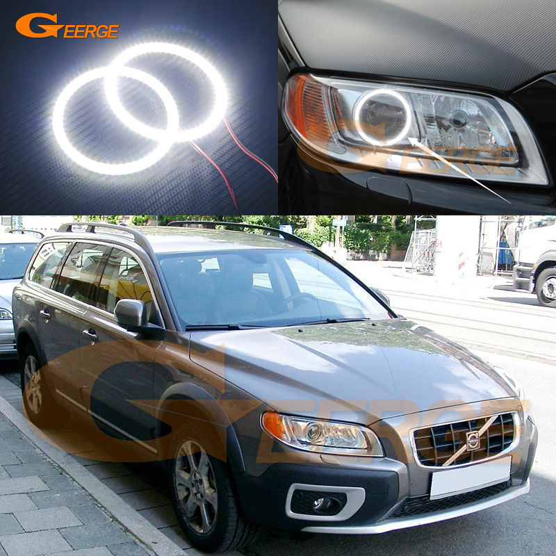 For Volvo XC70 2008 2009 2010 2011 2012 2013 2014 2015 Excellent Angel Eyes Ultra bright illumination smd led Angel Eyes kit<br>