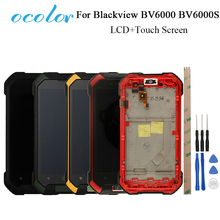 ocolor For Blackview BV6000S BV6000 LCD Display+Touch Screen Digitizer Assembly For Blackview BV6000 Bv6000S Cell Phone+Frame(China)