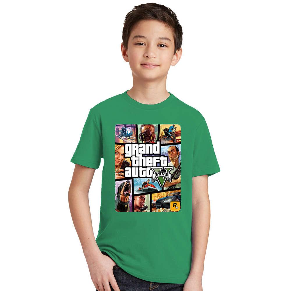 Summer Kids Boys Girls T Shirt 1 gta T-Shirt gta Street Fight Long with gta 5 clothes Children Tees Short Sleeve Kids clothing 7