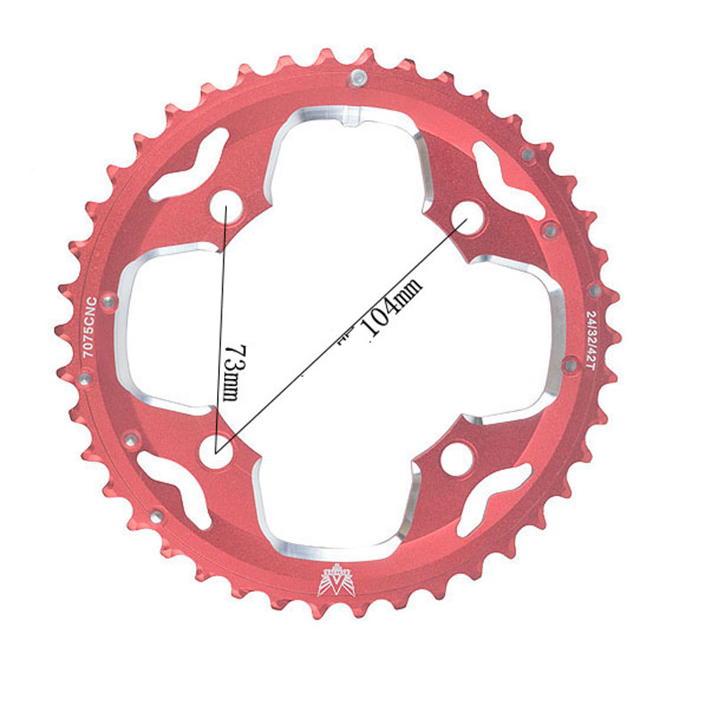 MTB Mountain Bikes 10-speed 42 tooth crankset 30-speed crankset repair sheet Crank Repair Crankset Chainrings Tooth Slice Parts<br><br>Aliexpress