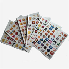 Wholesale 6 sheets Funny Cute Emoji sticker For Mobile Phone Kids Rooms Home Decor Tablet notebook diary sticker Labels(China)