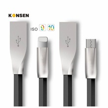 New 3D Zinc Alloy Fast Charging Data Sync Micro USB Cable for iPhone 6 7 6s Plus 5s 5 Cord Cabo iPad mini / Samsung / Sony / HTC