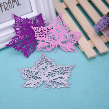 Maple Leaf Pattern Metal Cutting Dies Stencil For DIY Scrapbooking Album Paper Cards Handmake Craft Decorative Embossing Die Cut(China)