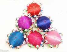 Wholesale 5pcs Chinese Handmade Vintage Silk Pin Cushion With10 Cute Kids