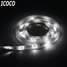 ICOCO 2017 1.2M Waterproof 30 LED Sensor Strips Digital Bed-lighting Acttivated Illumination with Body Sensor White/Warm Light