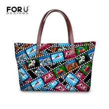 Large Capacity Crazy Horse Dolphin Printed Women Handbags Kawaii Zoo Animal Tote Bag Mujer Bolsos Brand Ladies Shoulder Bags(China)