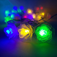 Wedding Propose Party Romantic Decorative Lights Rose led string AA  Battery fairy lights LED light garland 2M/4M/10M