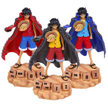 Anime One Piece Monkey D Luffy Eternal Calendar PVC Action Figure Collectible Model Toy 20cm 3 colors RETAIL BOX WU602