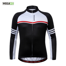 WOSAWE Cycling Jersey Fleece Jersey Long Sleeved Jacket Men & Women Winter Shirts Coat Bike Jersey Sports Windproof Jerseys