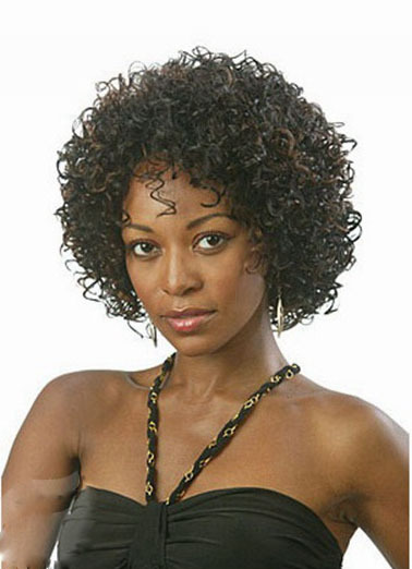 Heat Resistant synthetic african american short Afro kinky curly wig peluca natural black hair wigs for Black Women Peruca Preta<br><br>Aliexpress