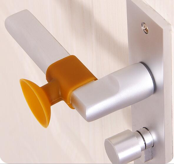 1PC Baby Safety Sucker Rear Door Wall Crash Cushions Handle Door Lock Protective Pad Protection Wall Stick Home Decor NJ 001