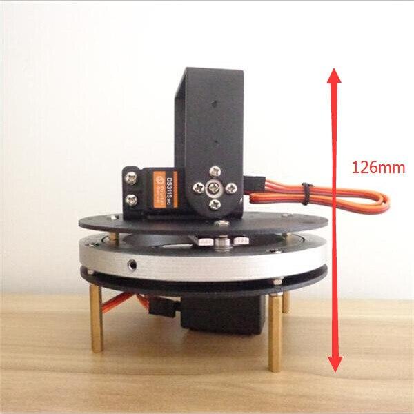 Aluminum Biger stronger Metal Circular Rotating Base + Thicker Metal Gimbal parts<br>