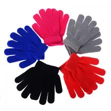 1Pair HOT Children Magic Glove Girls Boys Kid Stretchy Knitted Winter Warm Pick Gloves Mixed Color Knitted Gloves