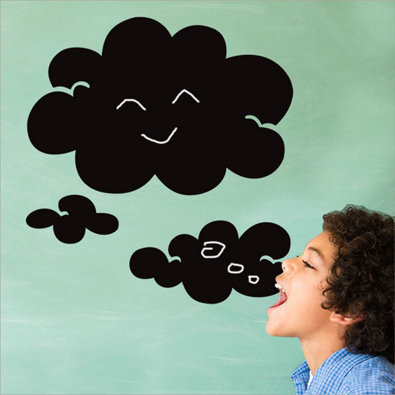 Clouds chalk Blackboard Stickers Removable Vinyl Draw Decor Mural Decals Art Chalkboard Wall Sticker For Kids Rooms Door sticker(China (Mainland))