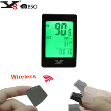 Wireless Bike Cycling Computer Odometer Speedometer Touch Button LCD Backlight Backlit Multifunction Bicycle Computer