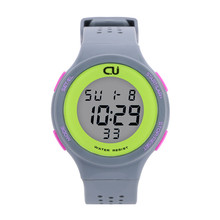 CU 2016 new LED multifunction ladies casual men's sports watch 30 meters waterproof watch male and female students