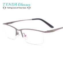 Half Frame Eye Glasses Men Prescription Eyewear For Clear Lenses Myopia & Reading