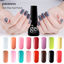Paraness 24 colors One Step Gel Varnish Easy Primer UV LED Cheap Gel Polish Nail Art Design semi-permanent False Nails With Glue