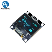 0.96 Inch I2C IIC Serial 128X64 128*64 Blue OLED LED Display Module Compatible For Arduino STM32 Controller Driver Board 3V 5v(China)