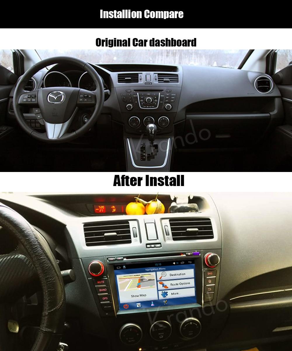 krando mazda 5 premacy android car radio gps dvd player navigation multimedia system
