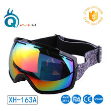 Newest design double anti-fog lens soft TPU frame sports ski goggles outdoor sport skiing eyewear snowboard glasses unisex