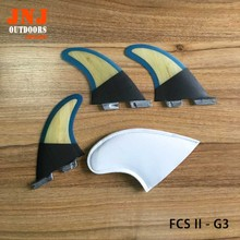 Strongest carbon and bamboo standard surfboard fins FCS II G3 S fins 3pcs a set(China)